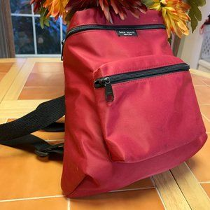 KATE SPADE Red Nylon Small Vintage Backpack
